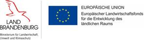 Logos des Landes Brandenburg und der Europäischen Union